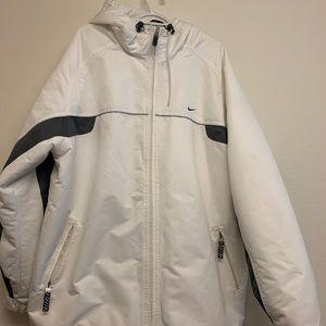 Men's Nike Winter White Coat with Hood  size XXL